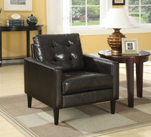 Load image into Gallery viewer, Acme Balin Espresso Pu Leather Accent Chair