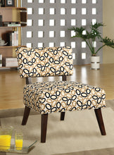 Load image into Gallery viewer, Acme Able Espresso Fabric And Wood Finish Accent Chair