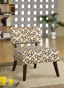 Acme Able Espresso Fabric And Wood Finish Accent Chair