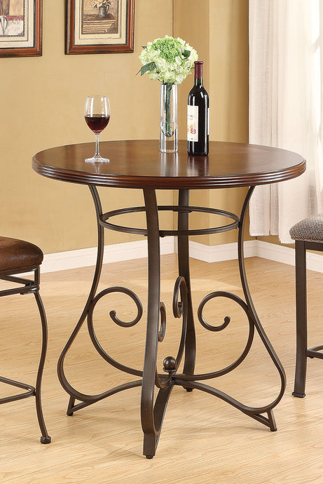 Acme 96064 Tavio Walnut Dark Bronze Finish Bar Table