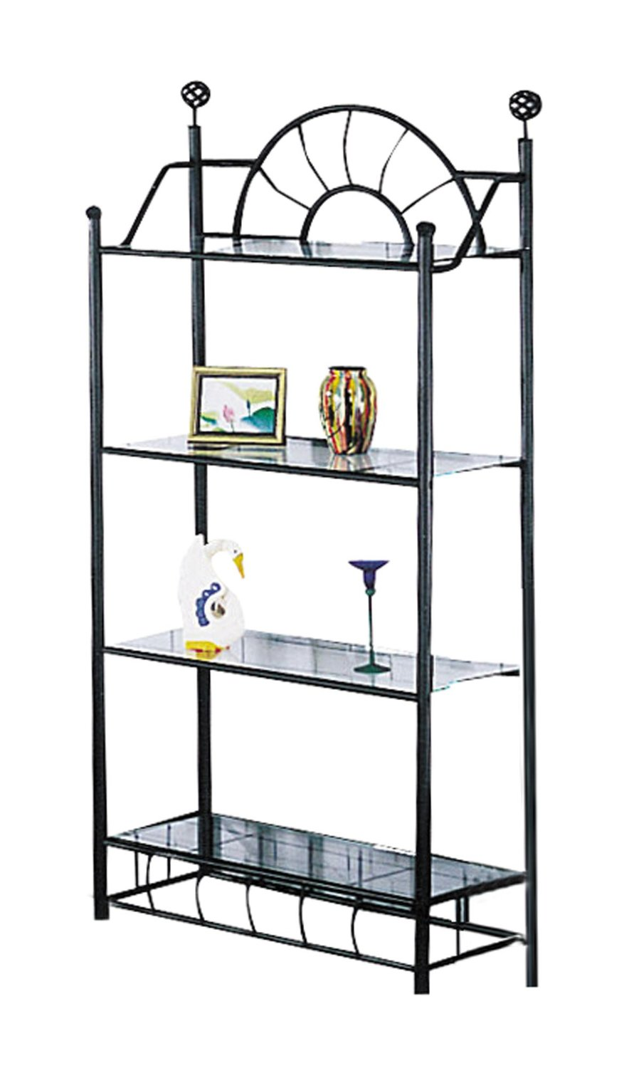 Acme Sunburst Sandy Black Metal Display Rack