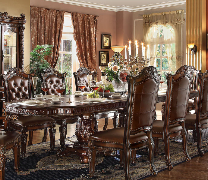 Acme 62000 Vendome Cherry Double Pedestal Dining Table