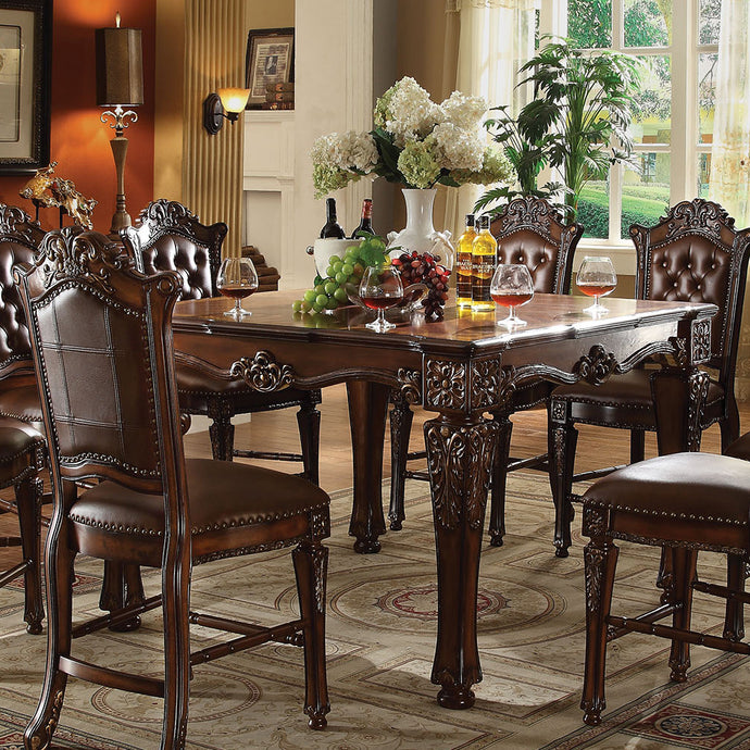 Acme Vendome Cherry Wood Finish Counter Height Dining Table