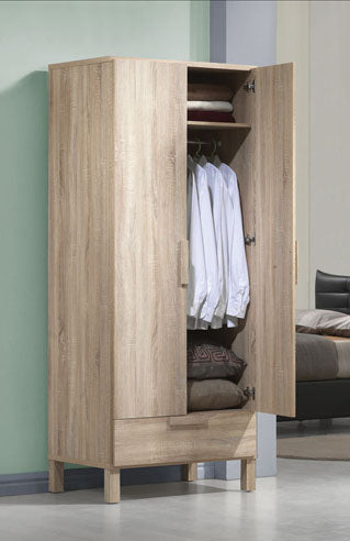Acme 98090 Odella Oak Finish Wardrobe w 1 Drawer