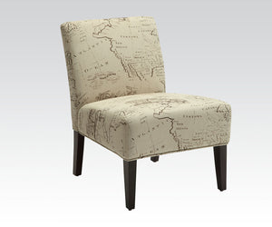 Acme 96229 Reece Fabric and Espresso Accent Chair