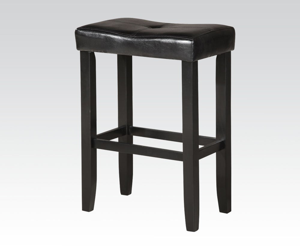 Acme Micha Black Black PU Finish Counter Bar Stool