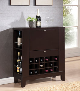 Acme 97010 Nelson Wenge Wine Cabinet with Drawer