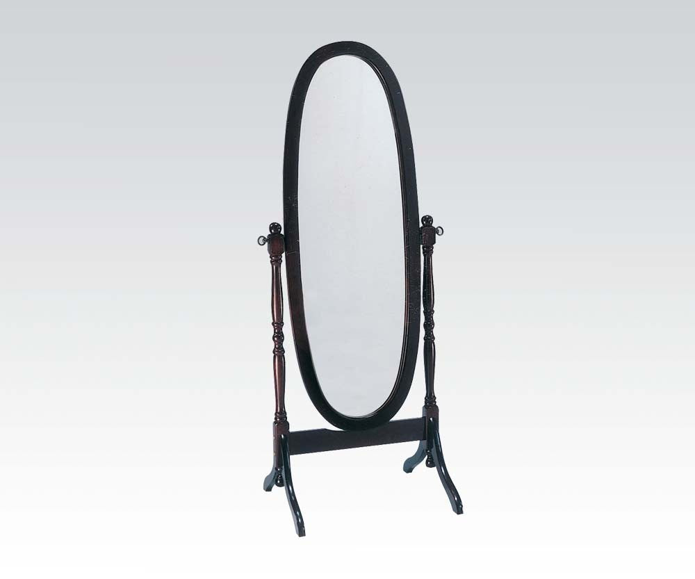 Acme 02288 Fynn Cherry Finish Floor Cheval Mirror