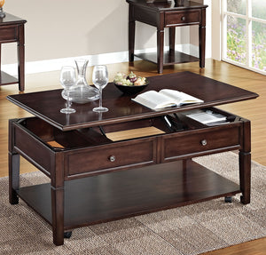 Acme Malachi Walnut Coffee Table with Lift Top
