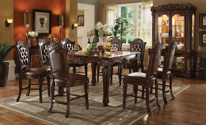Acme Vendome Traditional Cherry Counter Height Dining Set