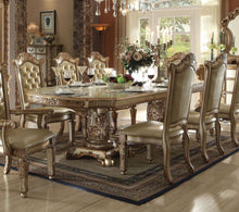 Load image into Gallery viewer, Acme Vendome Gold Patina Double Pedestal Dining Table