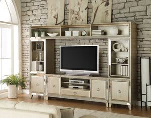 Acme 91200 Voeville 4 Pieces Antique Gold Entertainment Center Set