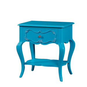Acme Edalene Turquoise Girl Drawer Night Stand