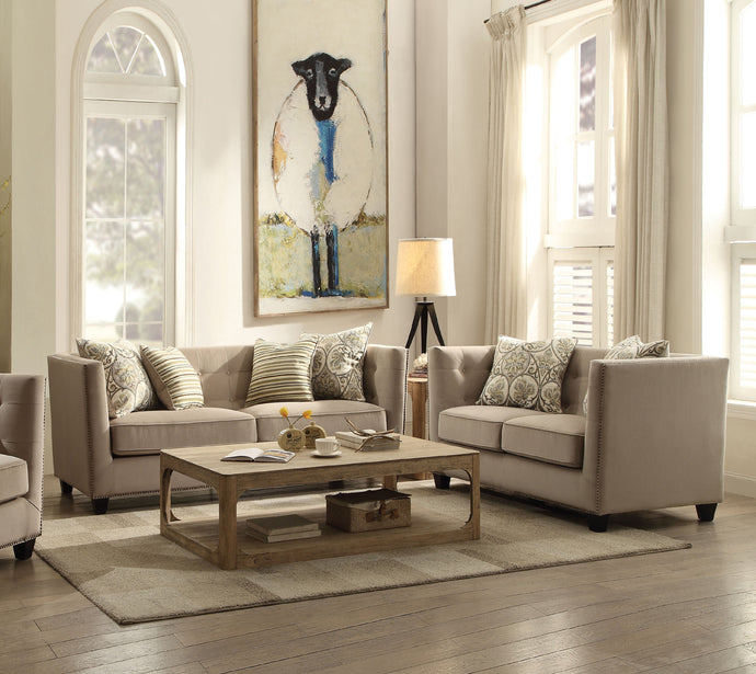 Acme Juliana Contemporary Fabric Sofa Set Loveseat