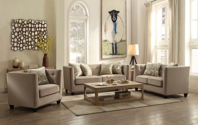 Acme Juliana Contemporary Fabric Sofa Set Loveseat Chair