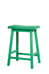 Acme Gaucho Antique Green Wood Finish 2 Piece Counter Height Stool
