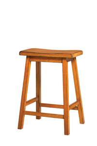 Acme Gaucho Antique Oak Wood Finish 2 Piece Counter Height Stool