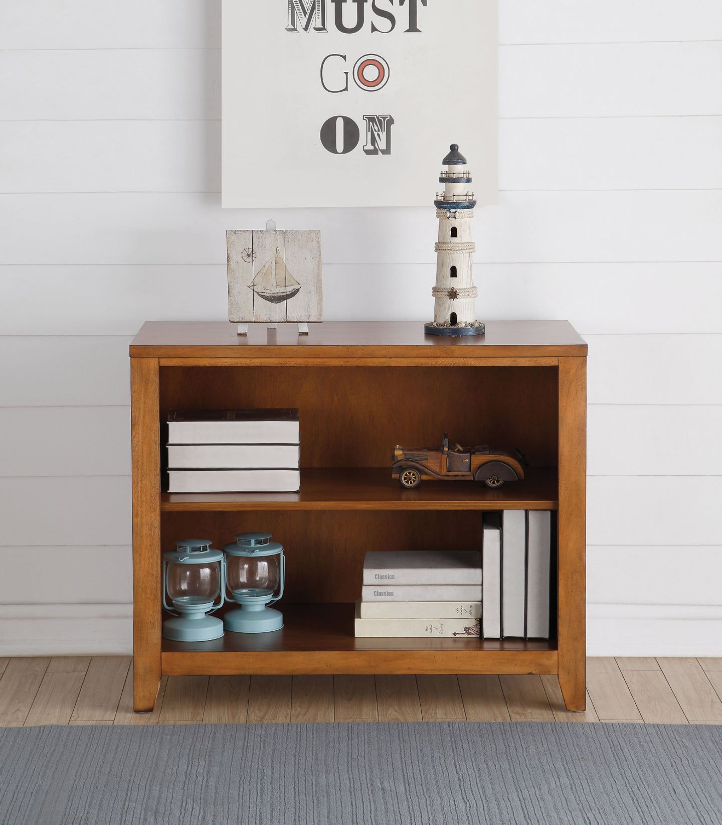 Acme Lacey Cherry Oak Bookcase