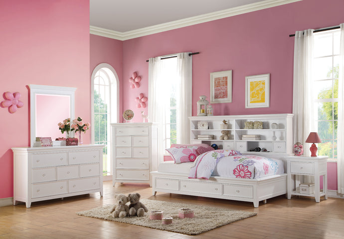 Acme Lacey White Storage Full Daybed Bedroom Set
