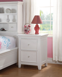 Acme Lacey White Drawer Night Stand
