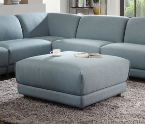 Acme Adina Light Blue Fabric Ottoman