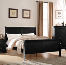 Load image into Gallery viewer, Acme Louis Philippe Black Wood Finish Full Sleigh Bed