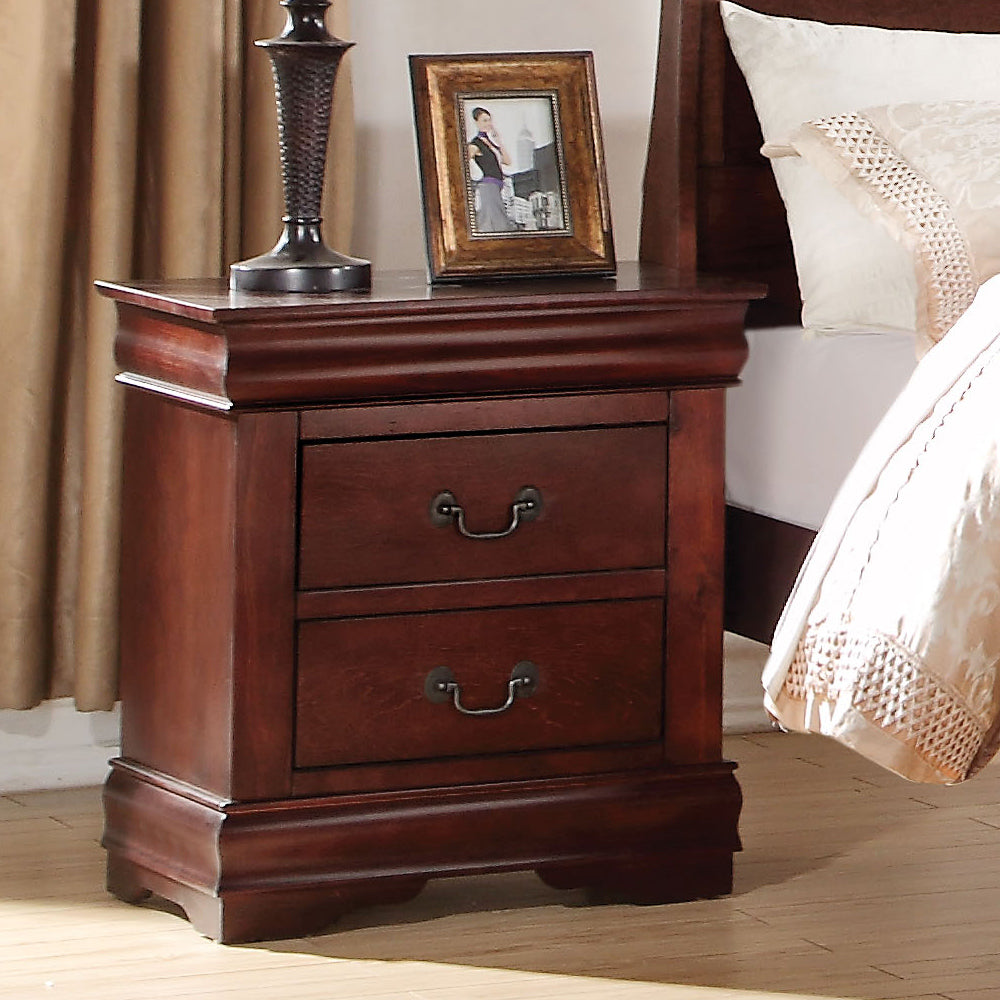Acme 23753 Louis Philippe Cherry 2 Drawer Night Stand