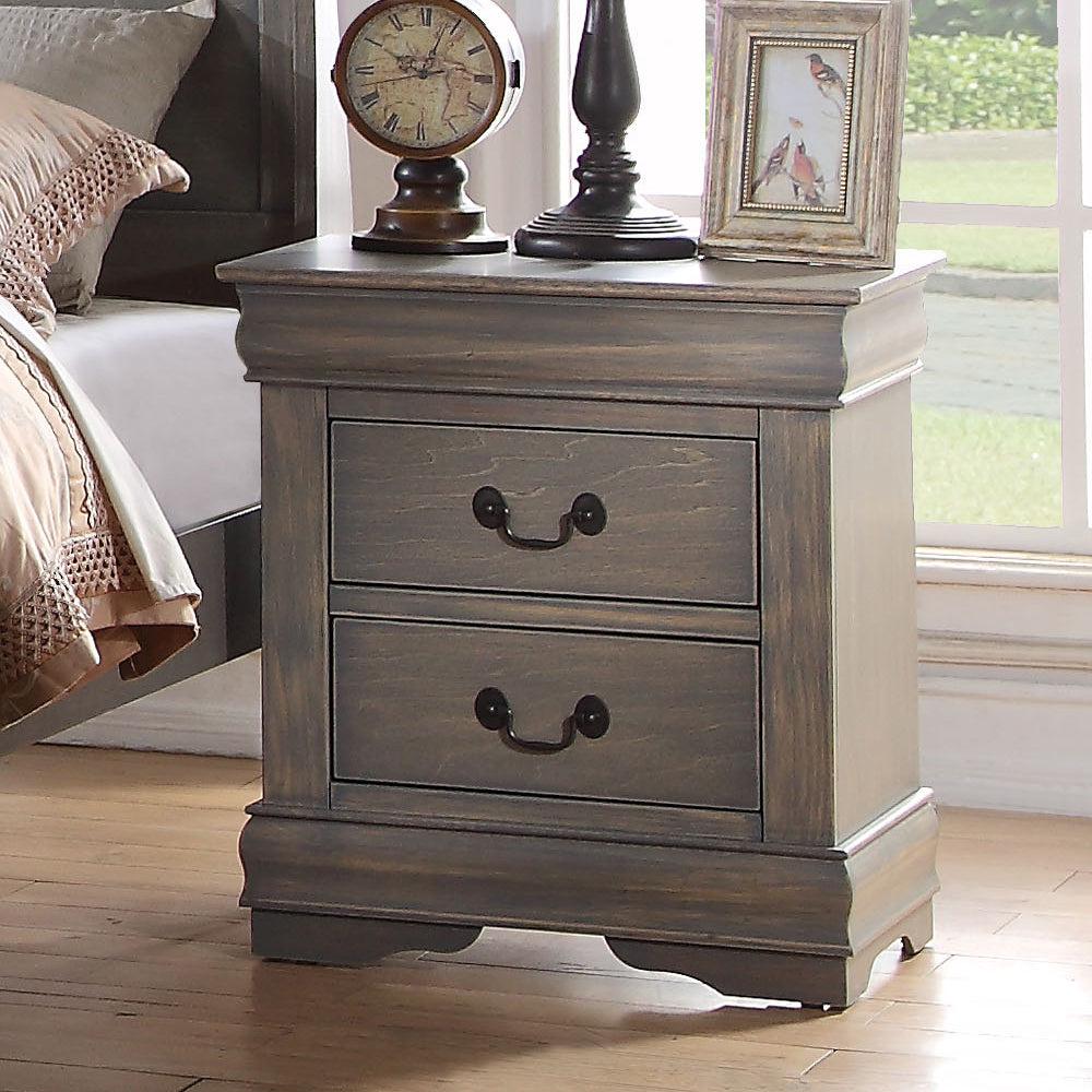 Acme Louis Philippe Gray -Drawer Night Stand