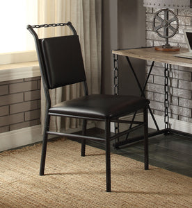 Acme Jodie Antique Black Metal Chair