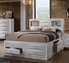 Load image into Gallery viewer, Acme 21700Q Ireland White Bookcase Queen Storage Bed With Drawers