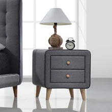 Load image into Gallery viewer, Acme Valda Light Gray Fabric And Wood Drawer Finish Nightstand