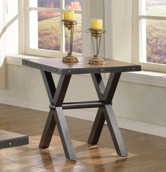 Acme Earvin Weathered Cherry End Table