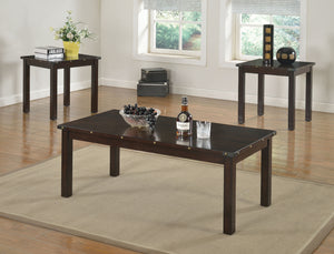 Acme Edena Espresso Pc Pack Coffee End Table Set