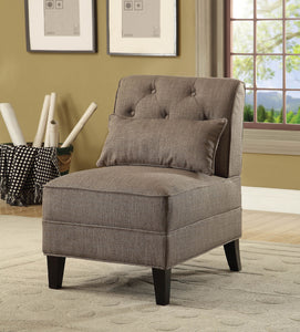 Acme Susanna Charcoal Linen Accent Chair With Pillow