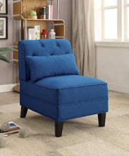 Load image into Gallery viewer, Acme Susanna Blue Linen Accent Chair With Pillow
