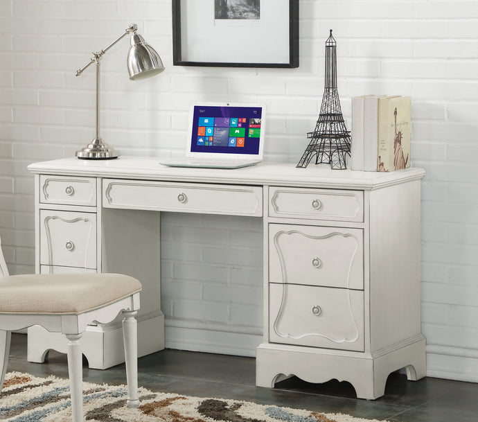 Acme Morre Antique White Drawer Desk
