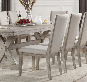 Acme Rocky Gray Oak Wood Finish 2 Piece Dining Chair