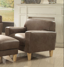 Load image into Gallery viewer, Acme Naroryta Light Brown Microfiber Chair