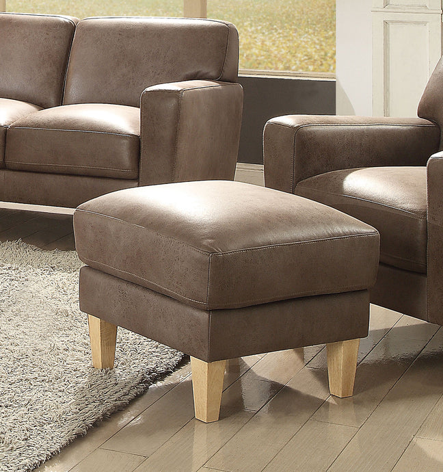Acme Naroryta Light Brown Microfiber Ottoman
