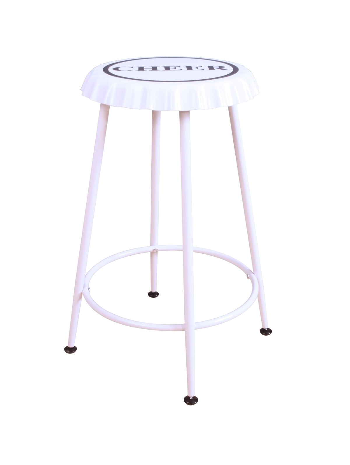 Acme Mant White Metal Finish 2 Piece Counter Height Stool