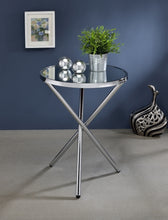 Load image into Gallery viewer, Acme 81818 Lajita Chrome Mirror Finish Contemporary Side Table