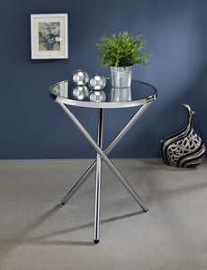 Acme 81818 Lajita Chrome Mirror Finish Contemporary Side Table