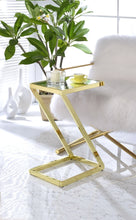 Load image into Gallery viewer, Acme Laina Side Table Gold Mirror