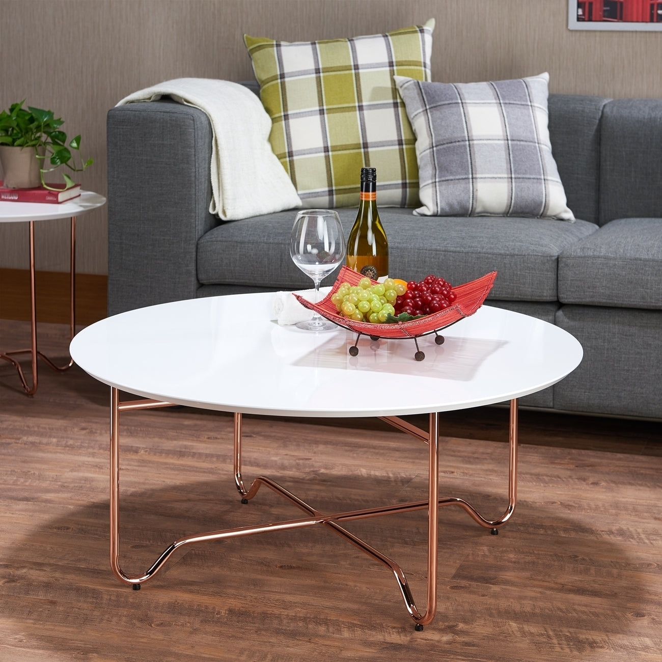 Acme 81860 Canty White Rose Gold Finish Coffee Table
