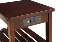 Load image into Gallery viewer, Acme Wasaki Side Table USB Espresso