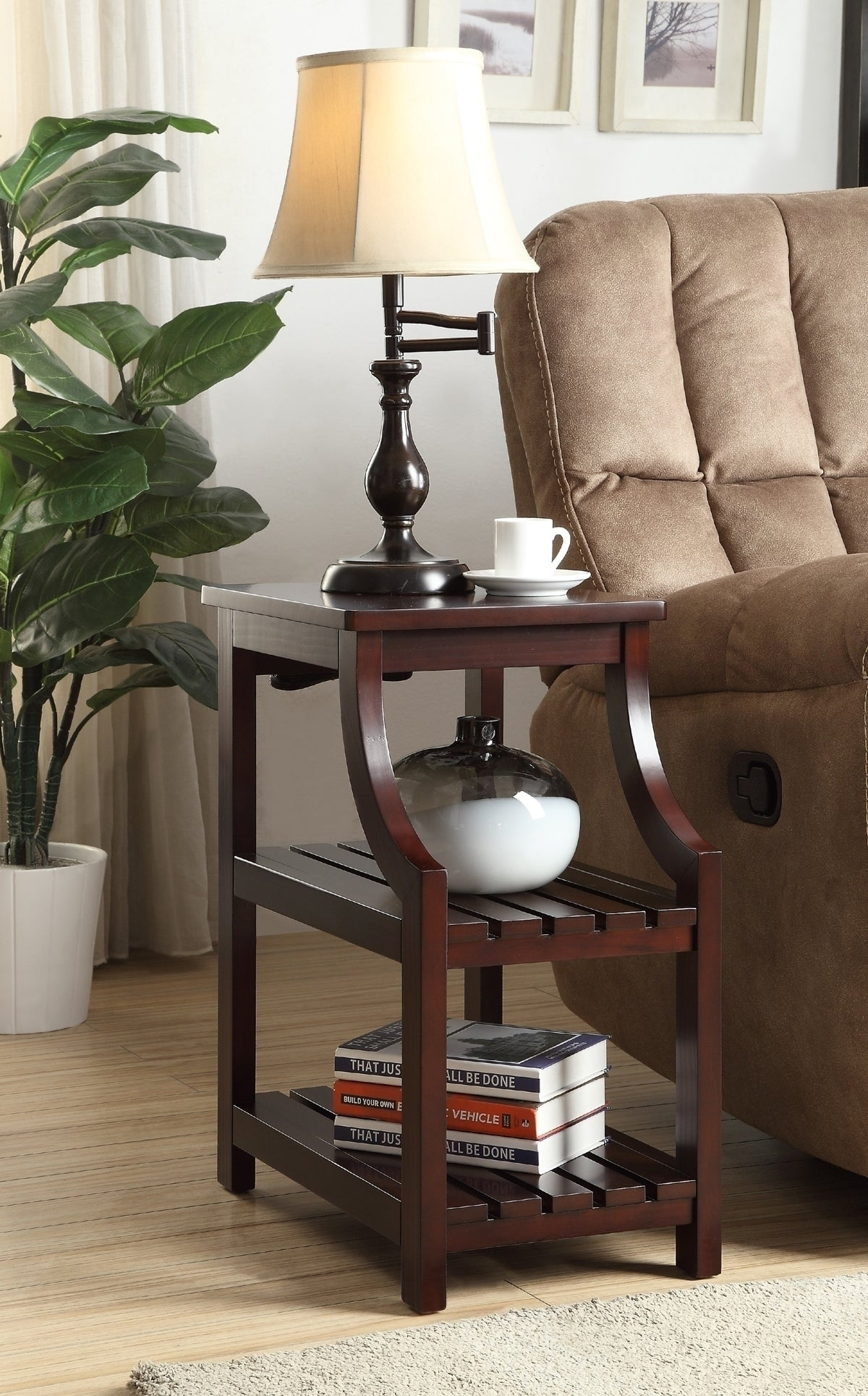 Acme Wasaki Side Table USB Espresso
