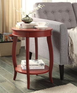Acme 82787 Aberta Red Finish Side Table