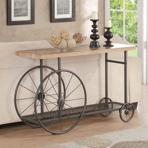 Acme Francie Oak Antique Gray Sofa Table