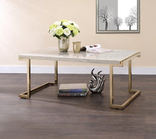 Load image into Gallery viewer, Acme 82870 Boice Faux Marble Champagne Coffee Table