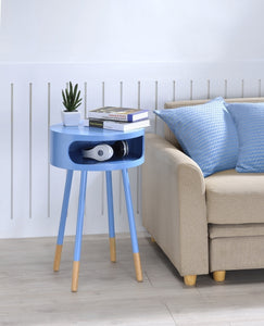 Acme Sonria Light Blue Finish Natural End Table